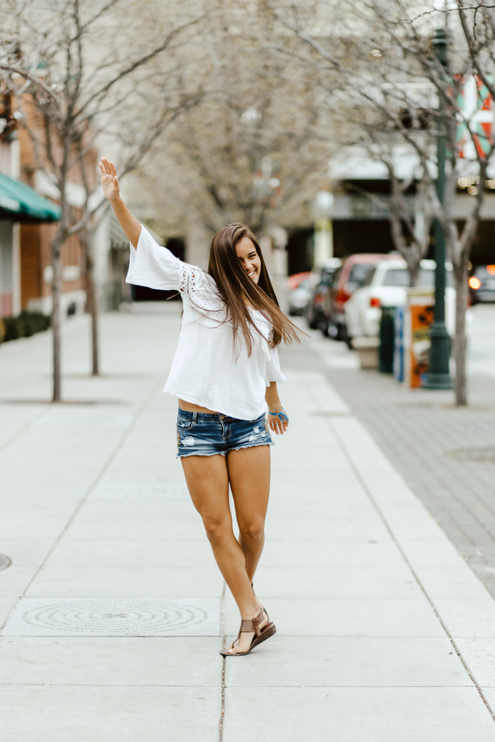 Boise Senior Photographer with Presley in downtown Boise Idaho from Timberline High School.