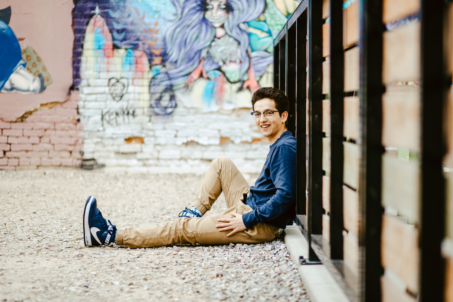 Boise Senior Photographer with Evan in downtown Boise Idaho from Timberline High School.