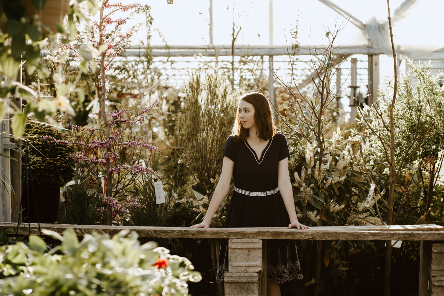 Boise Senior Photographer in Boise at Edwards Greenhouse from Timberline High School.