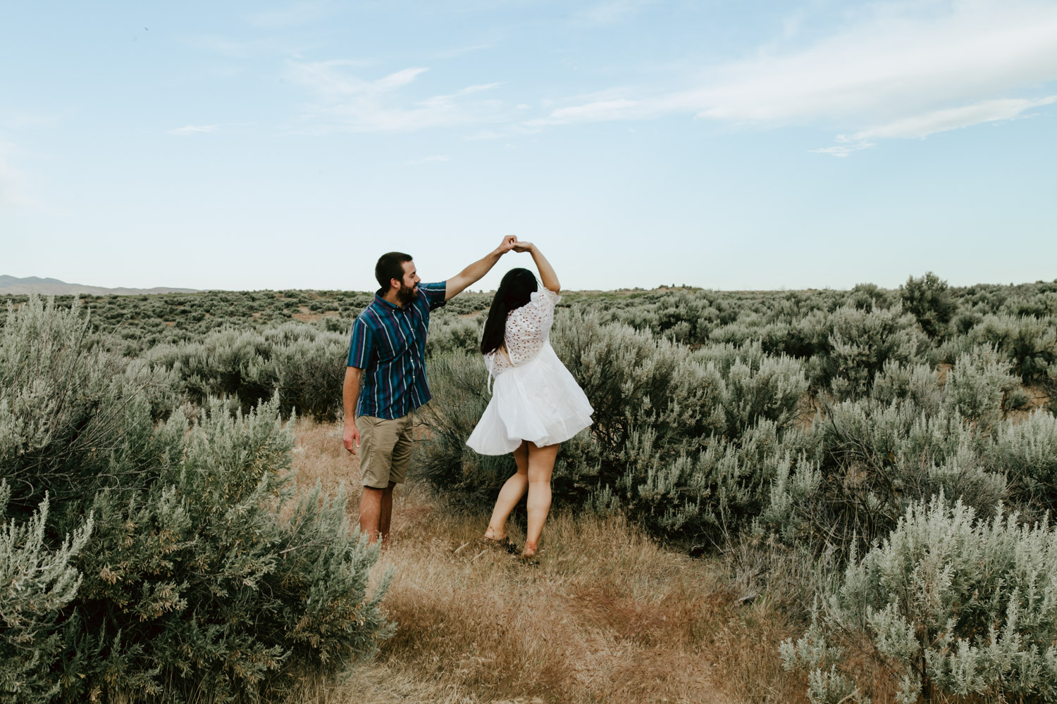 Boise Engagement and Wedding Photographer in the Boise Foothills.