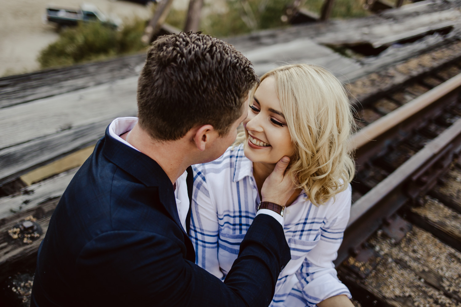 Boise Engagement and Wedding Photographer at Payette River in Idaho.