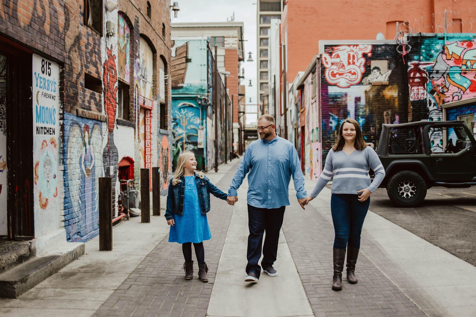 Boise family photographer Freak Alley, Boise Idaho.