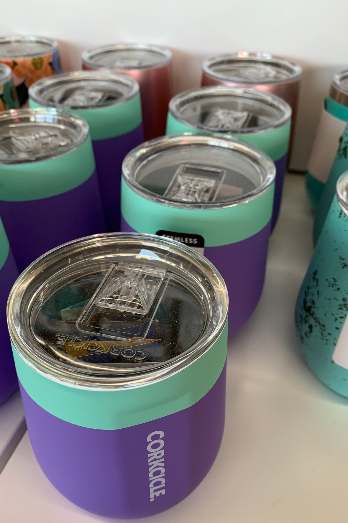 Tumblers /& Water Glasses Gift For Mom, Gift For Cat Lovers The Crazy Cat Lady Everyone Warned About 20 Oz Teal Drink Tumbler W Lid