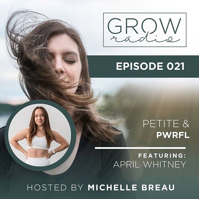"""New episode is up, and I'm SO excited to share today's guest with you! . . April Whitney (@smalletics) is a certified fitness and nutrition coach, an expert in petite women's health, and the founder of smalletics.com, a growing platform for petite female empowerment. April serves her community primarily through online services and programs such as her signature course, The Petite PWR Program. She also sponsors local community events and campaigns that promote body positivity and inspire confidence among women of all shapes and sizes. As a coach and fellow petite, April's mission is to educate and empower women all over the world to step into their power, and show up with the confidence to share their vibes, no matter their size. 🔥🔥🔥 . . (She's also she's former fencer. Swipe to see this powerhouse in action! 🤺) . . In this episode, we discuss: . . ➡️ Why simplicity is your friend when creating your life's work. . . ➡️ What it ACTUALLY feels like to have a very specific niche. . . ➡️ YouTube for cultivating community in business. . . ➡️ Why having a program designed specifically for petites is so essential. . . You can find this episode on iTunes, Spotify, or Google Play Music by searching """"GROWradio"""" OR by heading over to michellebreau.com/podcast/021 (Link on bio!) . . As always, be sure to snap a screenshot of the episode and share it on your stories, tagging me @iammichellebreau so I can hear your thoughts. Hit subscribe, leave a review, and share the love if you love it! 🌱"""