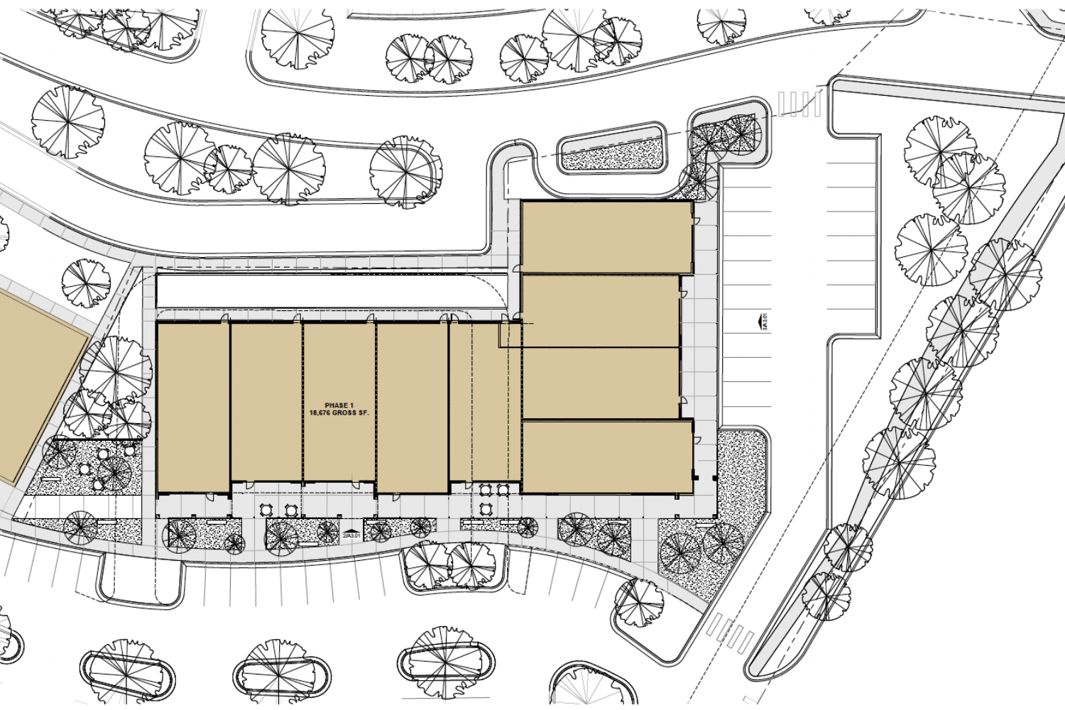 PHASE 1 - Retail Building 10   NorthWind Crossing Includes 18K Sq ft of retail space.