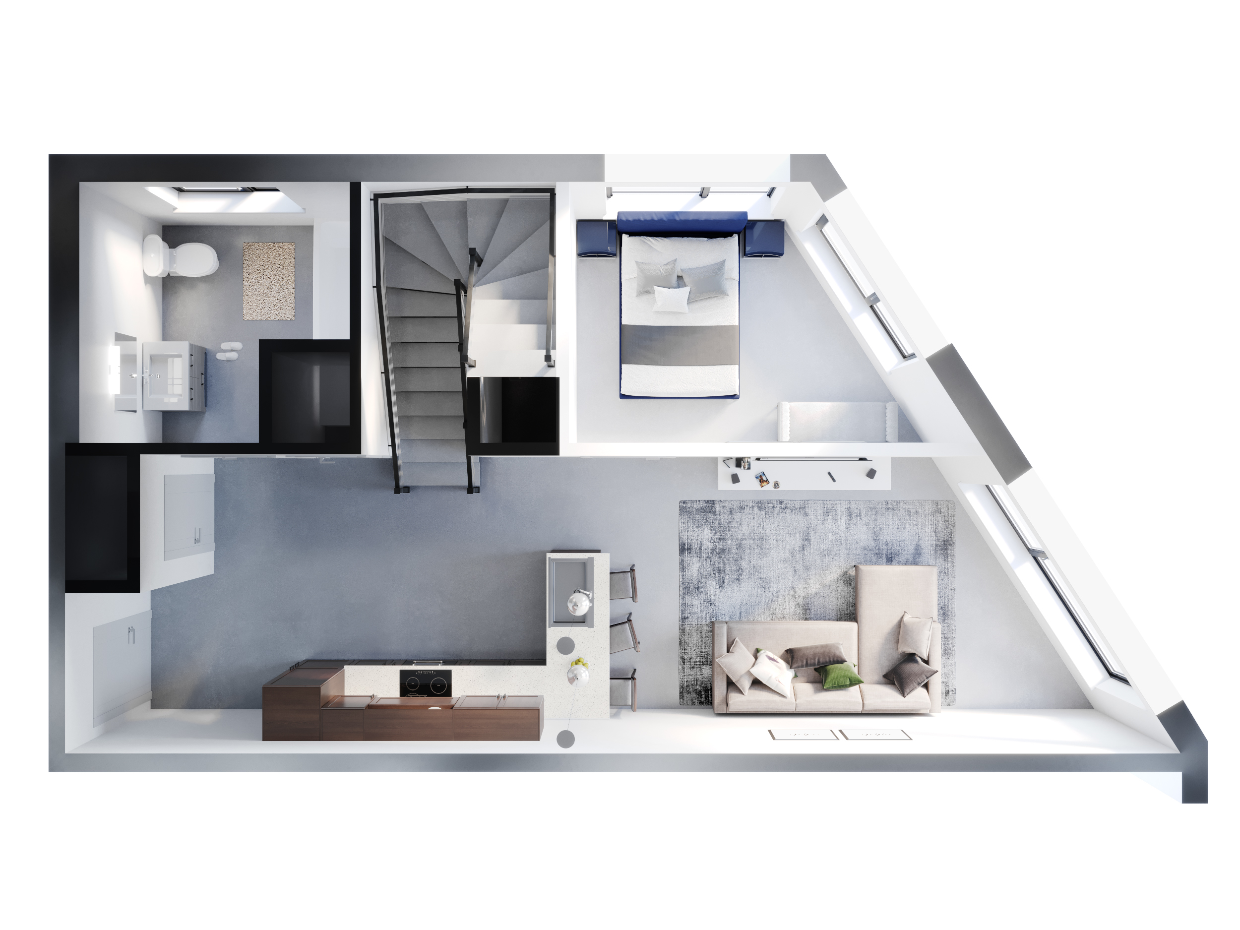 Lofted 2 Bedroom