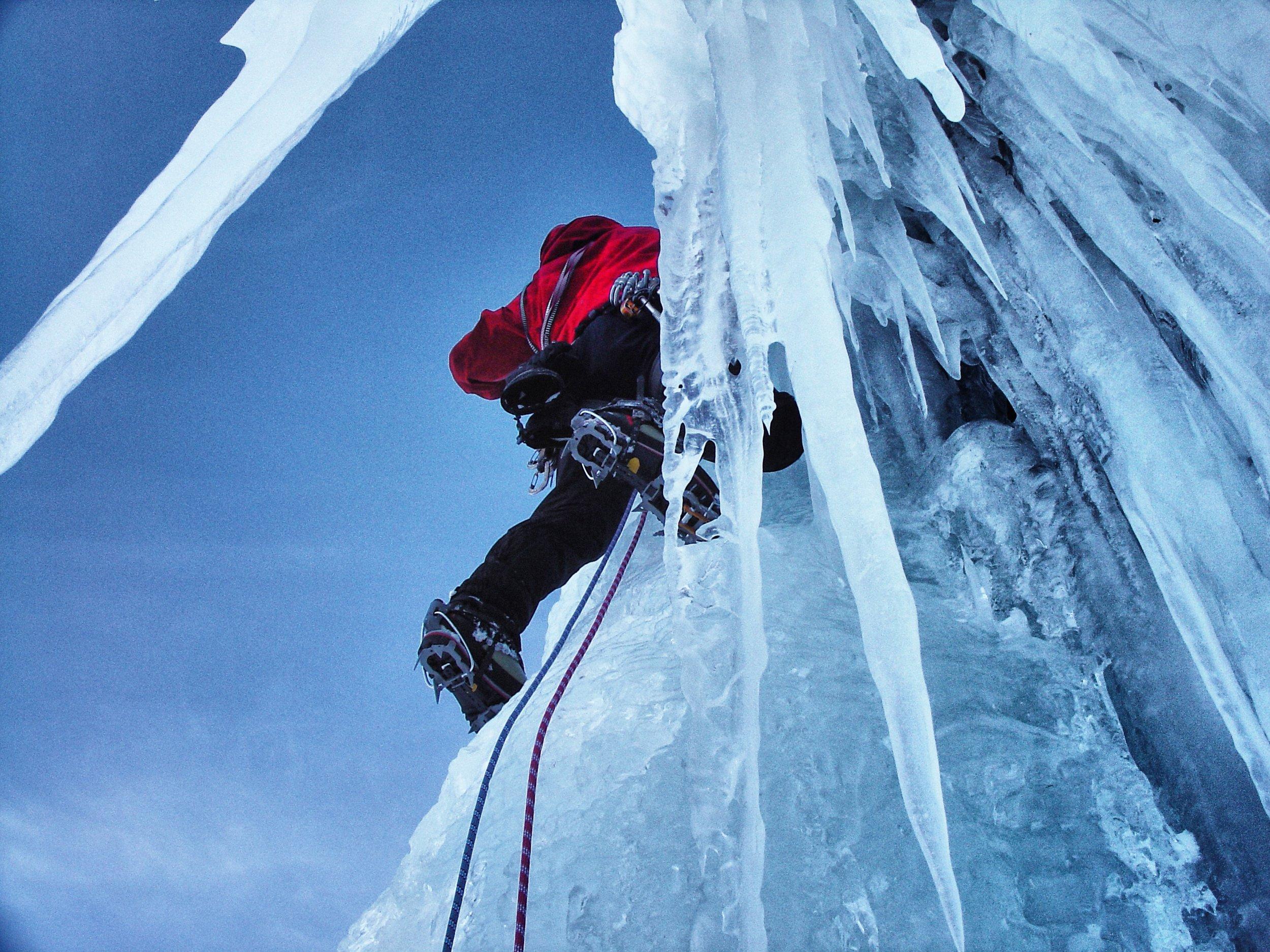 Matthias Scherer on  Icelander, Argentiere, France - picture Tanja Schmitt