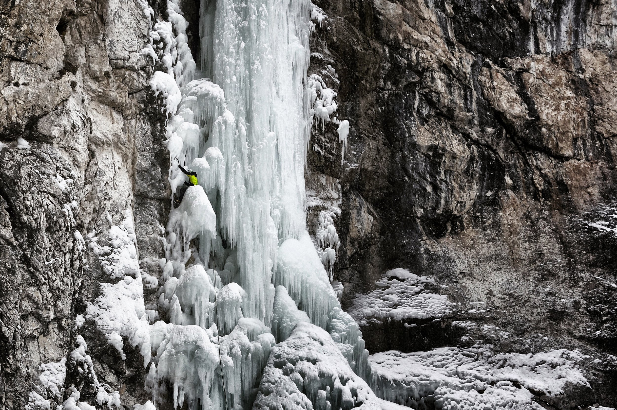 Matthias Scherer on Pilat, Gardena Valley, Italy - picture Tanja Schmitt