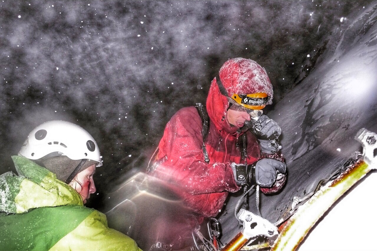 Matthias Scherer and Heike Schmitt on Sorcerer, Ghost Valley, Canada - picture Tanja Schmitt