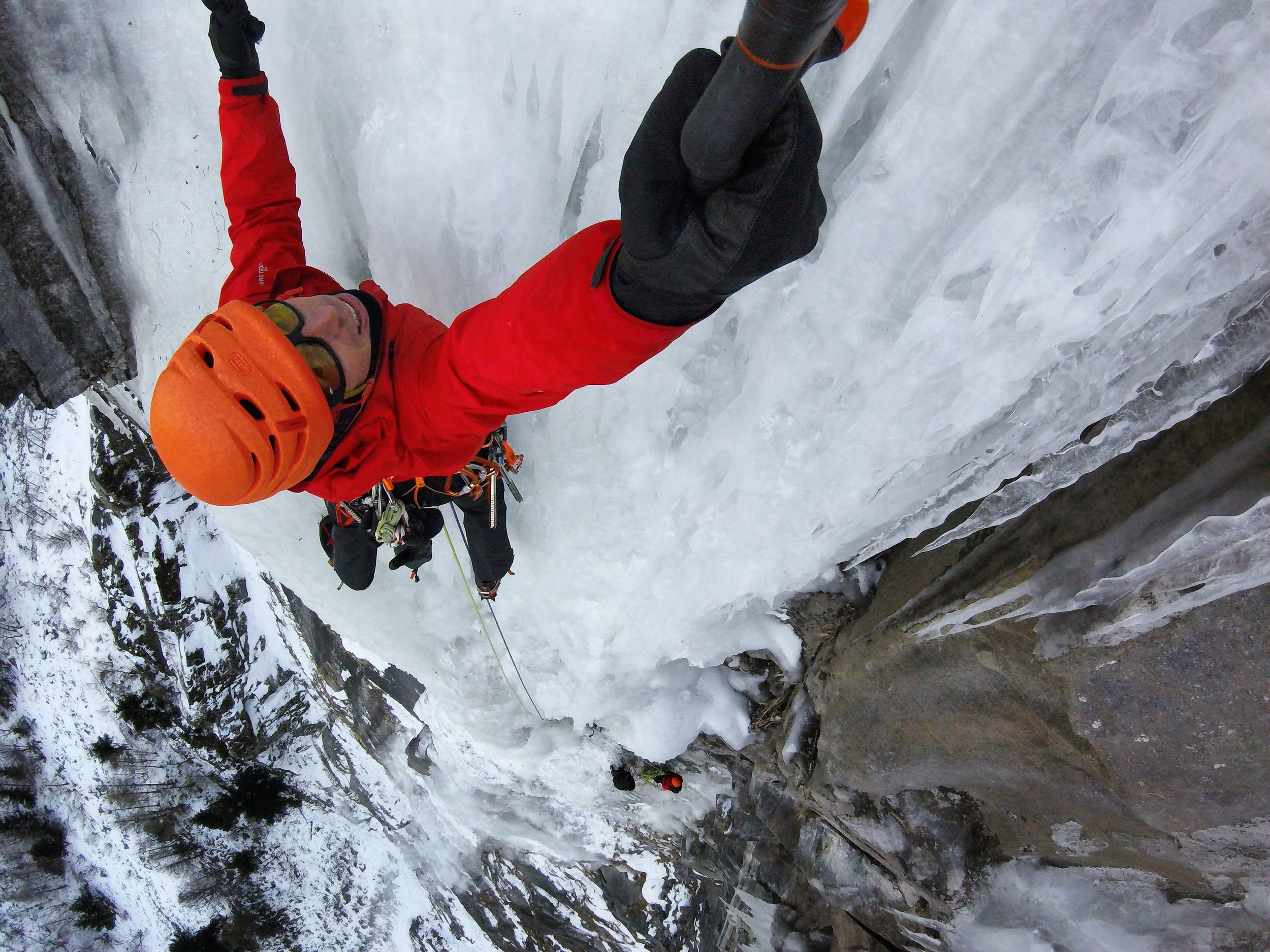 Matthias Scherer on Gouter des Généraux, Maurienne, France - picture Matthias Scherer