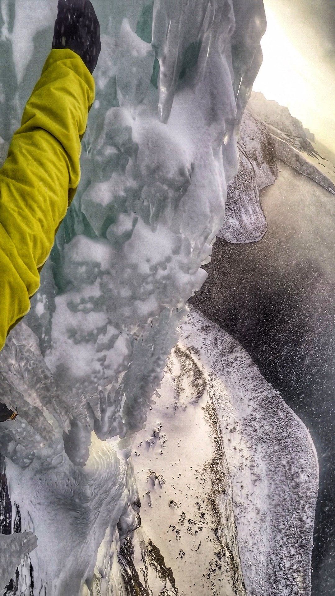 The Look down from the final pitch - picture Matthias Scherer