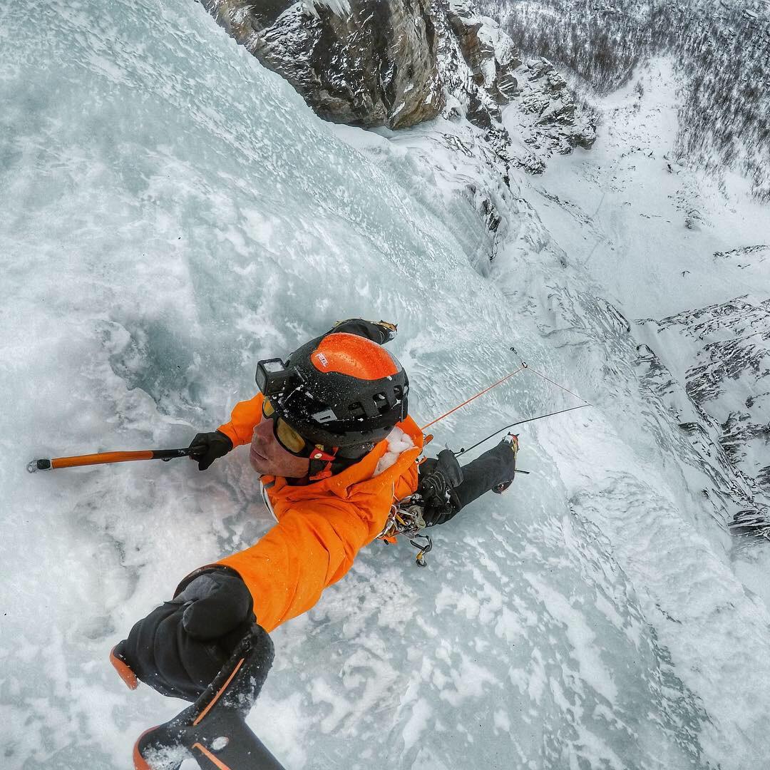 On Søylefossen March 2019, Troms, Norway - picture Matthias Scherer