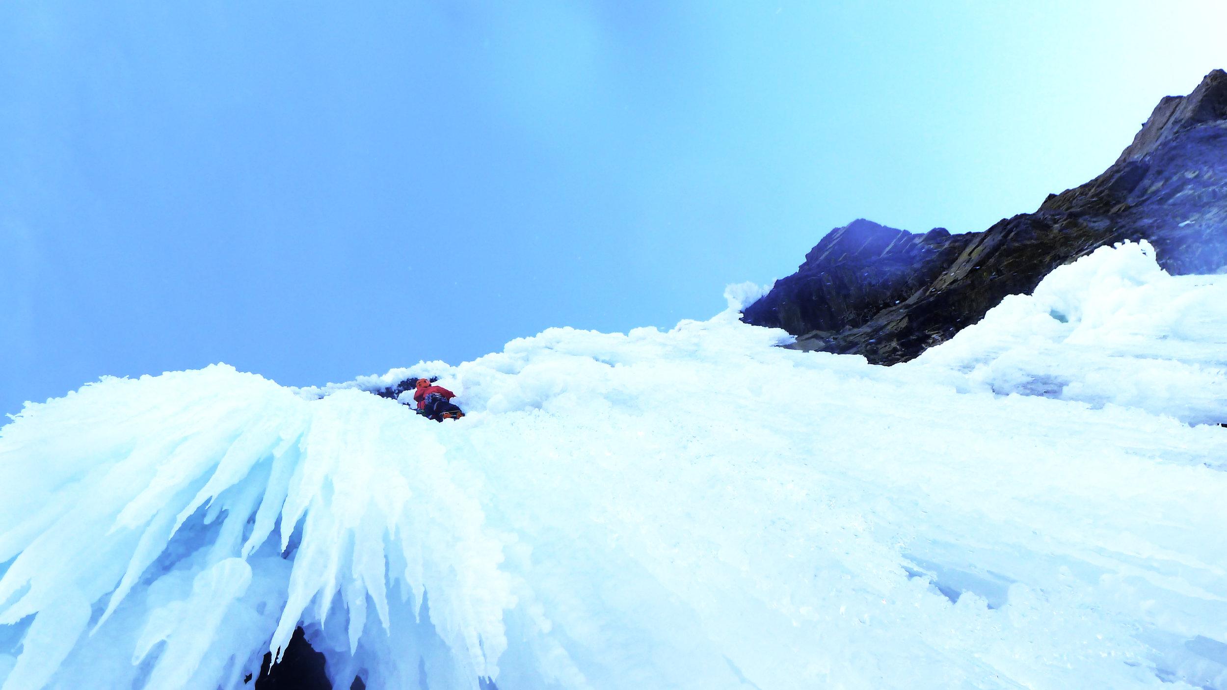 Matthias Scherer on Virtual Reality November 2012, Icefieldsparkway, Canada picture Tanja Schmitt