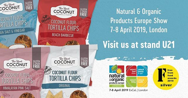If you are visiting the Natural & Organics Product Show this weekend come by Stand U21 to try some of our Award winning products 😋