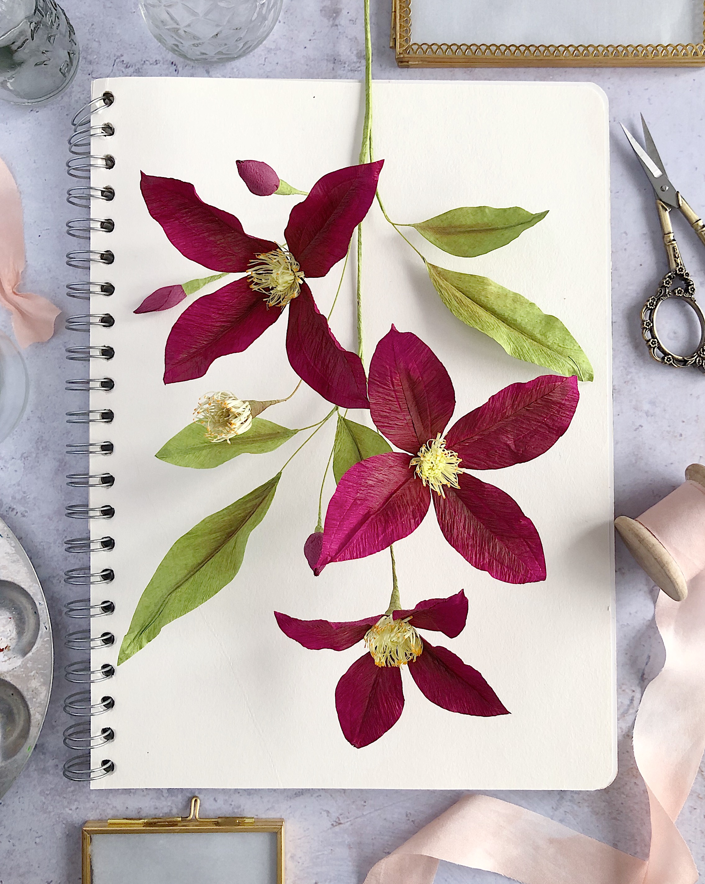 Paper Burgundy Clematis by Crafted to Bloom.jpeg