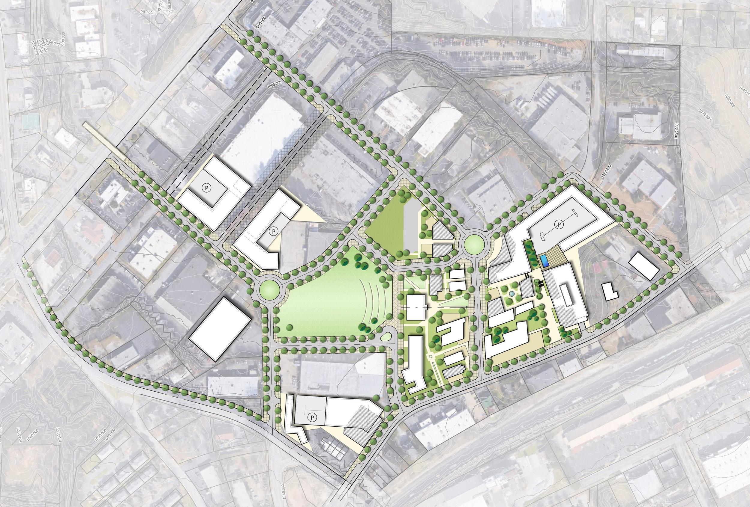 3. Unique Nodes - utilize street grid to connect and provide access