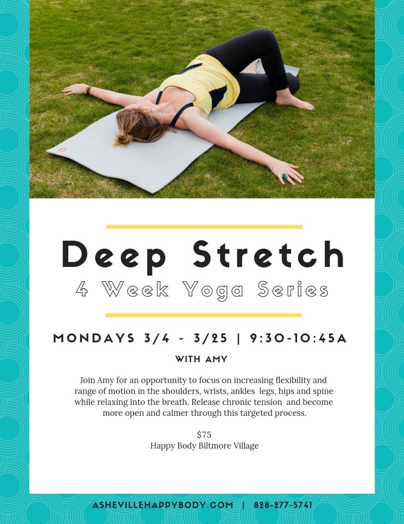 Deep Stretch yoga  series