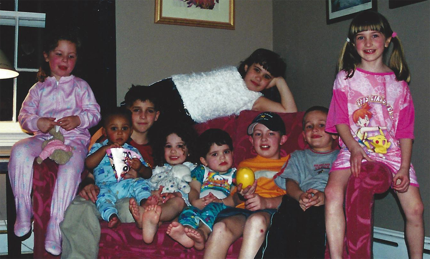 Throwback to The Big Comfy Couch! We would NOT have been able to take this picture if anyone had cheese on their hands. Even though I was one of the youngest, my cousins, and their parents, always looked out for me...