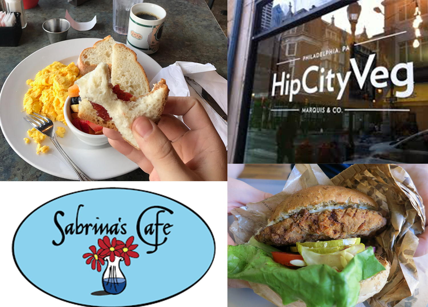 Whenever I need to eat out while at college in Philly, Sabrina's Cafe and Hip City Veg have always been there to accommodate my allergy.