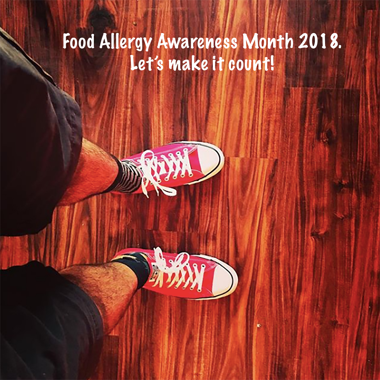 On the first day of #foodallergyawareness month, I wore my #redsneakersforoakley!