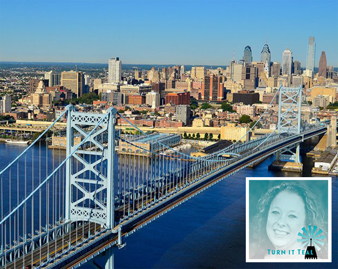 Thanks to Turn it Teal, Philadelphia's Ben Franklin Bridge will be illuminated teal on May 14 for food allergy awareness.