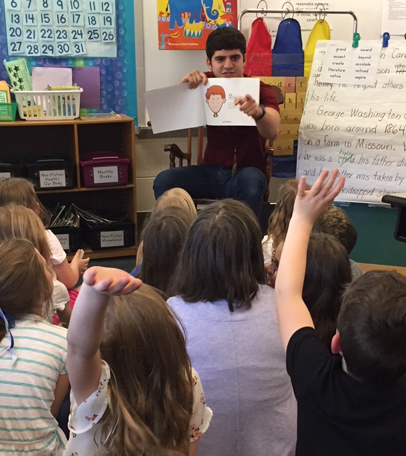 Students in Ms. Sheri Usner's Second Grade classroom live in the Land of Can!