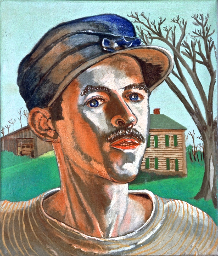 Lester Bridaham, self portrait, 1936 Massachusetts
