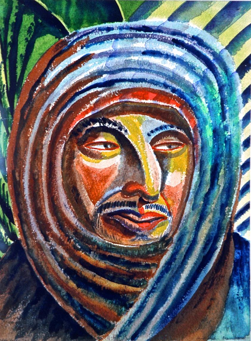Abstract Head, Fez, Morocco, 1932