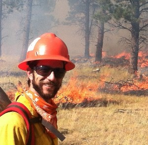 Matt on a prescribed burn in Black Lake, NM