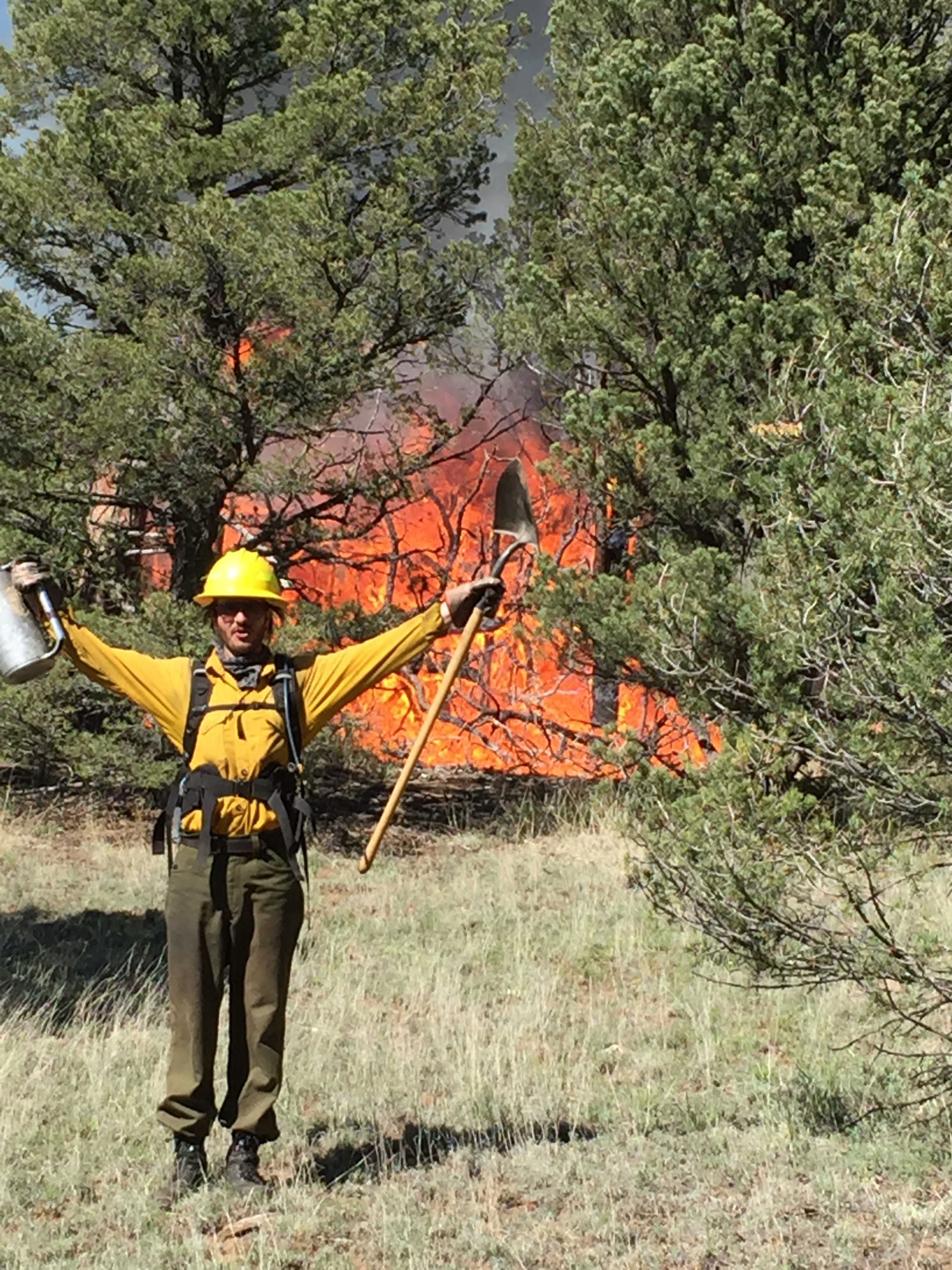 My first prescribed burn at Fort Union Ranch!