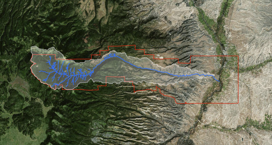 The project area is contained within the Santa Clara Creek Watershed and includes over 32,000 acres, 24 miles of stream, and 5,000 feet of elevation gradient.