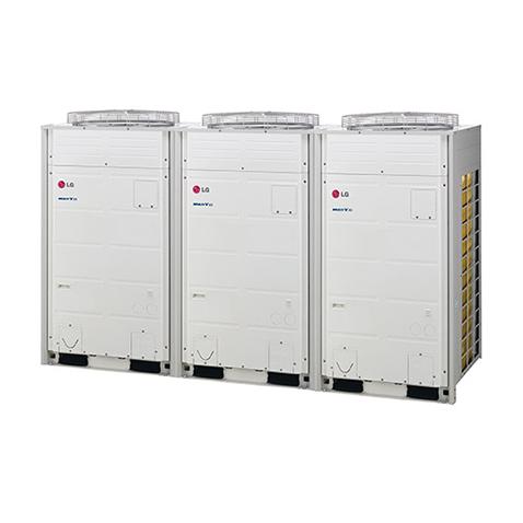 Sistema de VRFMV3 III - Alto padrão em Climatização para instalação de médio a grande porte. Com apenas uma unidade condensadora externa, é possível climatizar múltiplos ambientes simultaneamente (até 64 máquinas evaporadoras), com a máxima eficiência energética em um moderno sistema de automação.