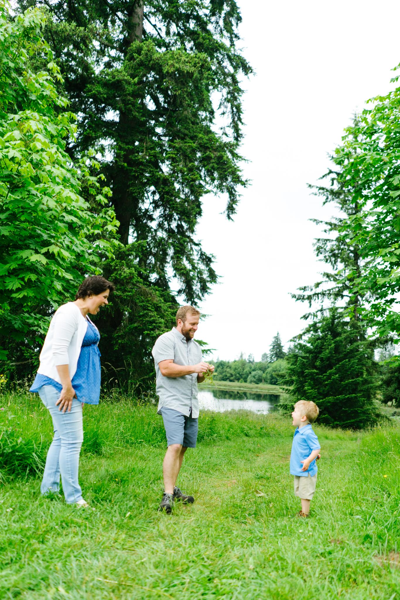 Family Photography Portrait Session at Clark Lake Park in Kent, Washington
