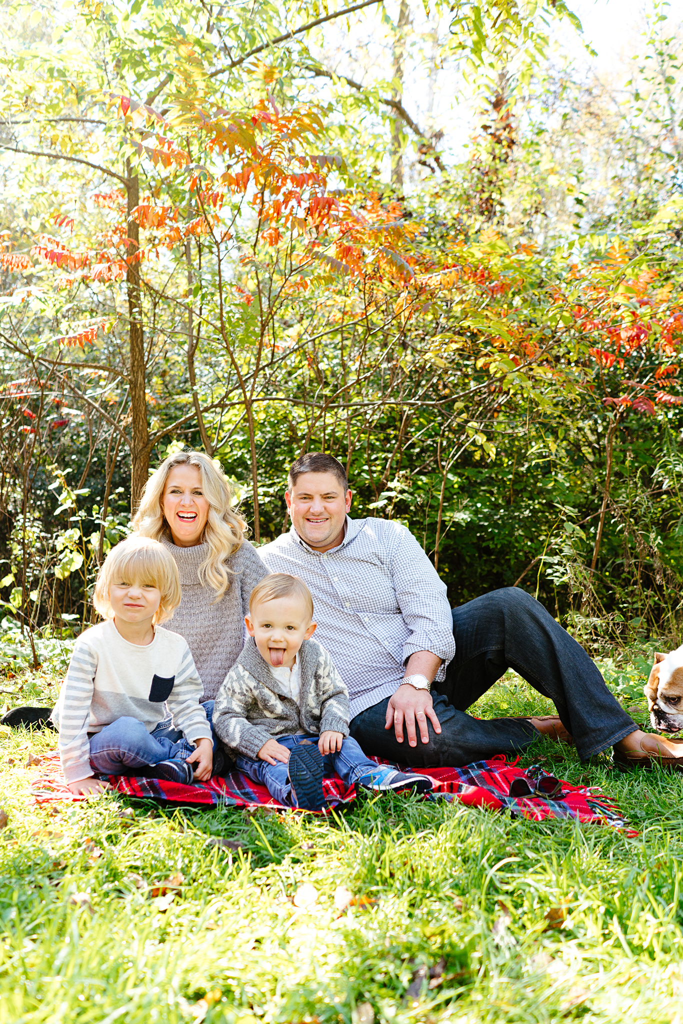 Fall Family Portraits by Green Lake in Seattle Washington