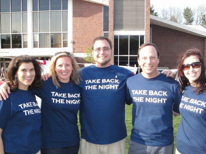 Worcester Polytechnic Institute Student Development & Counseling Center Staff at Take Back the Night 2010