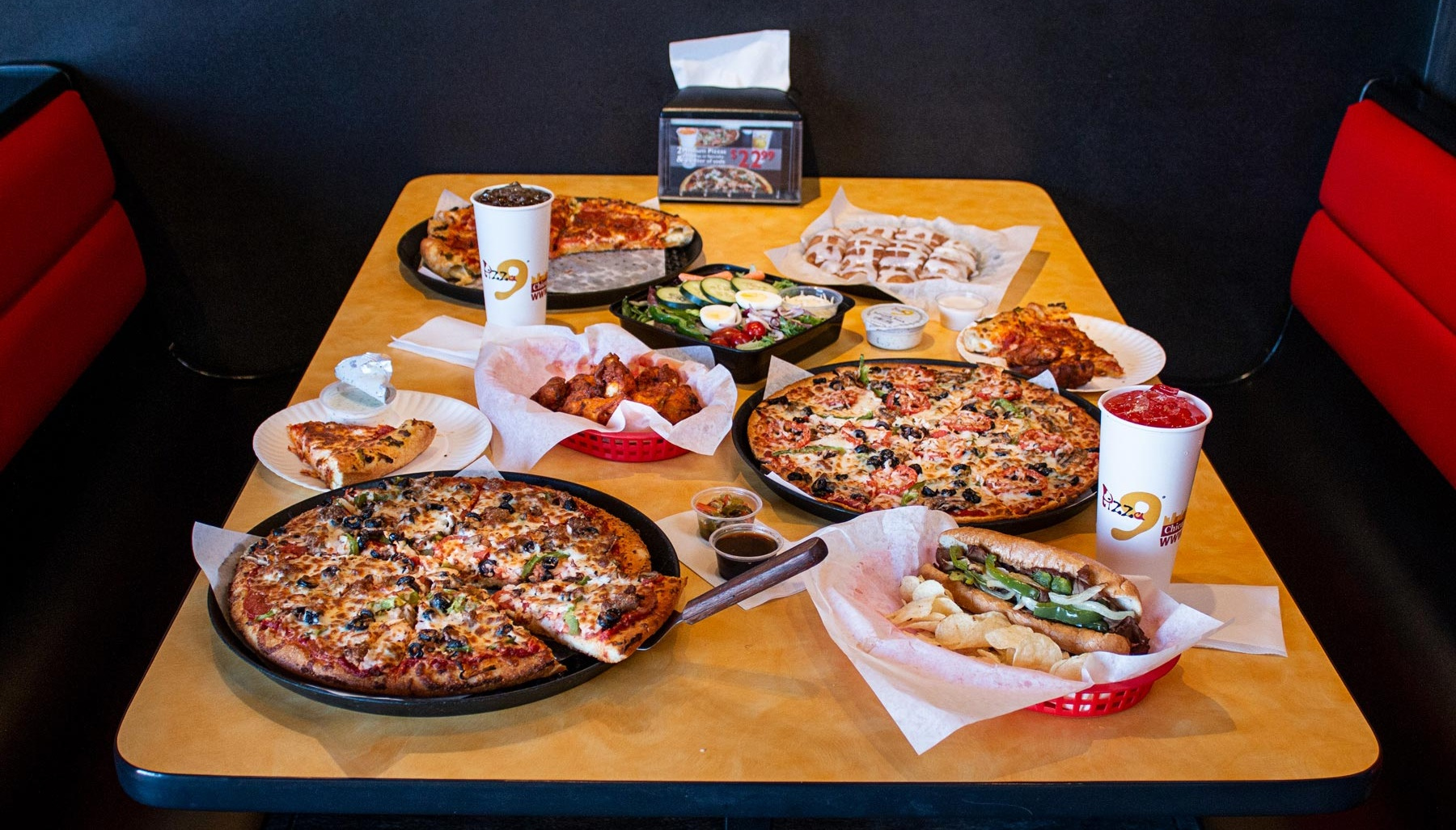 Pizza 9 Meal-  Add a little variety to your meal, order now from your local Pizza 9 restaurant!