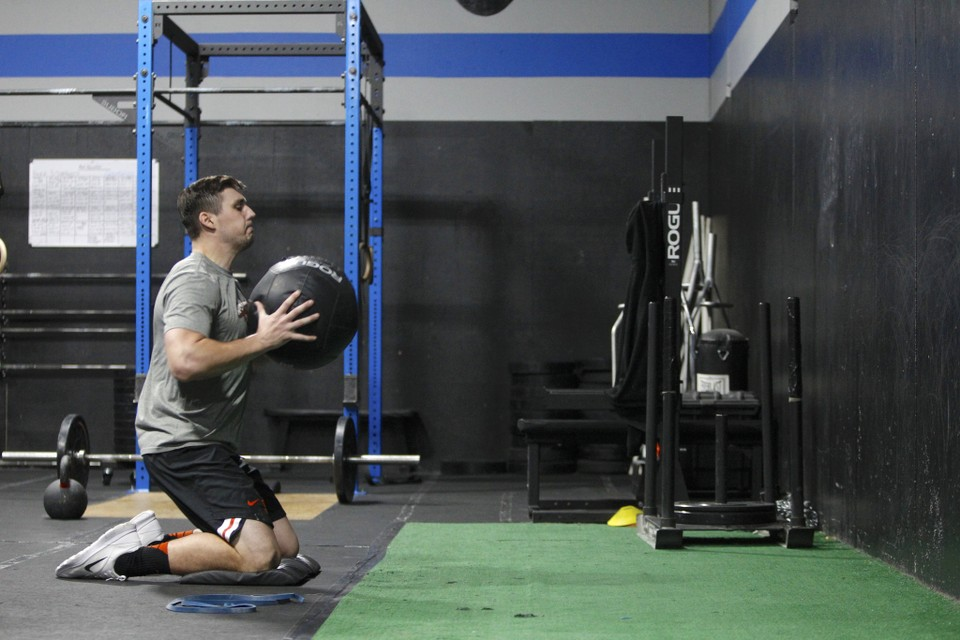 NFL Running Back, Ryan Nall training for the 2018 NFL Combine at StrengthFarm
