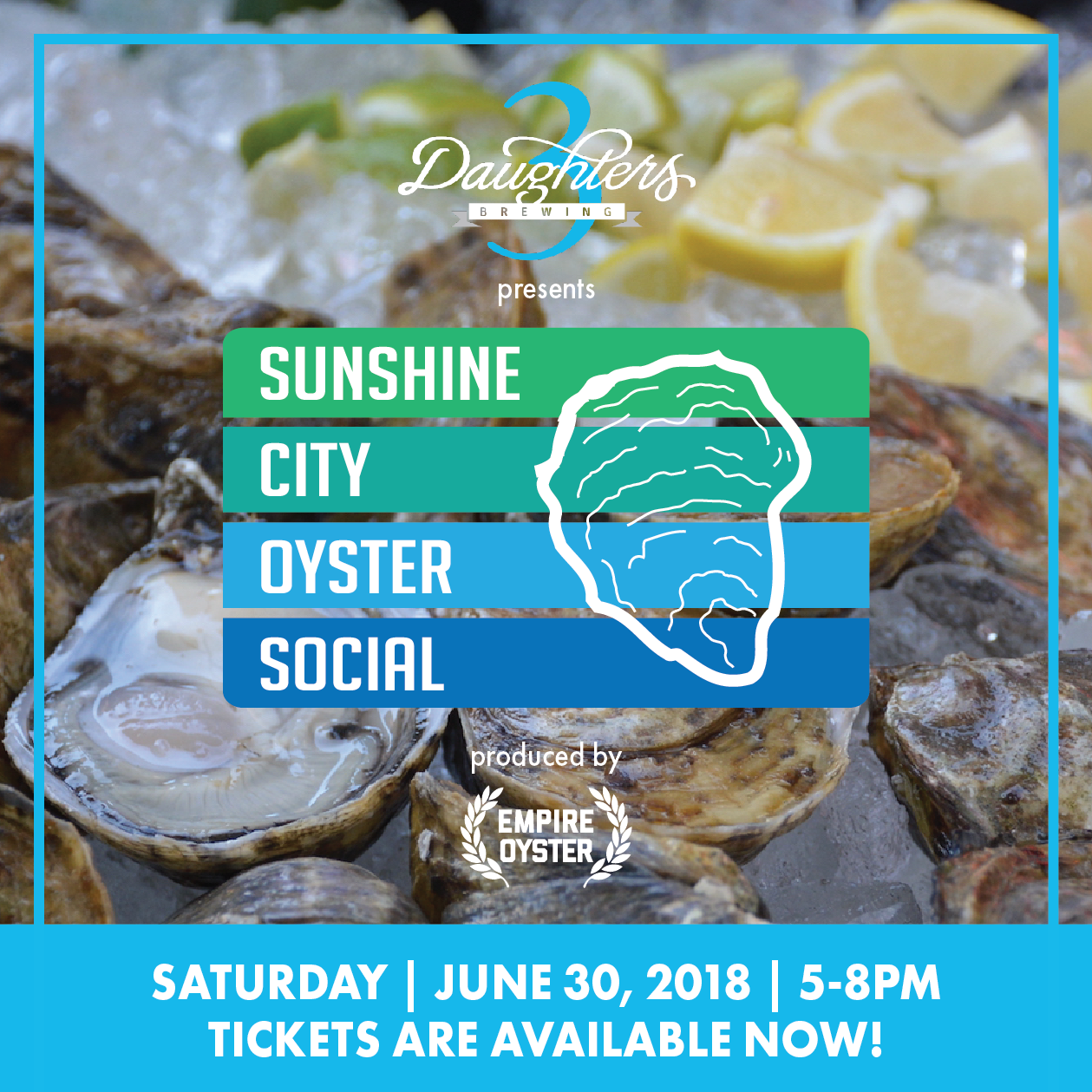 Sunshine City Oyster Social - Event Graphics