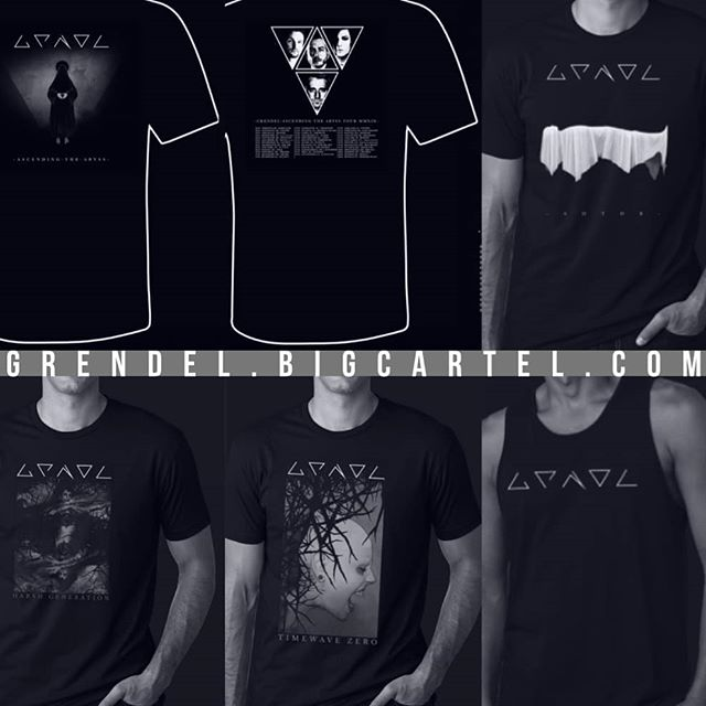 New designs & merch items up on our store! Visit Grendel.Bigcartel.Com today! 🖤