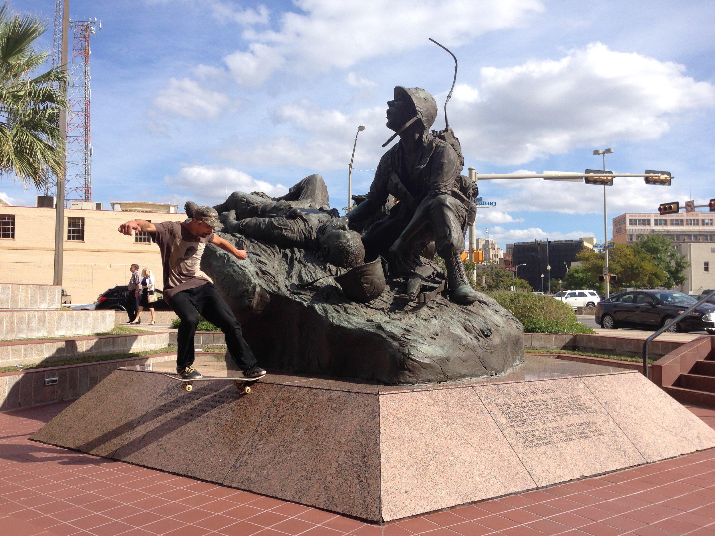 Jo Tailslide San Ant War Memorial.JPG
