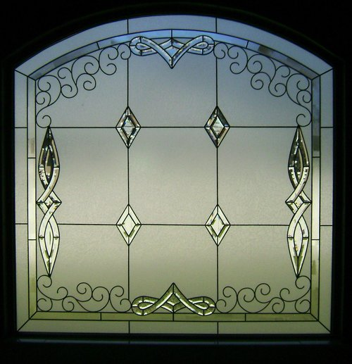 Lead and Bevel Window with privacy background
