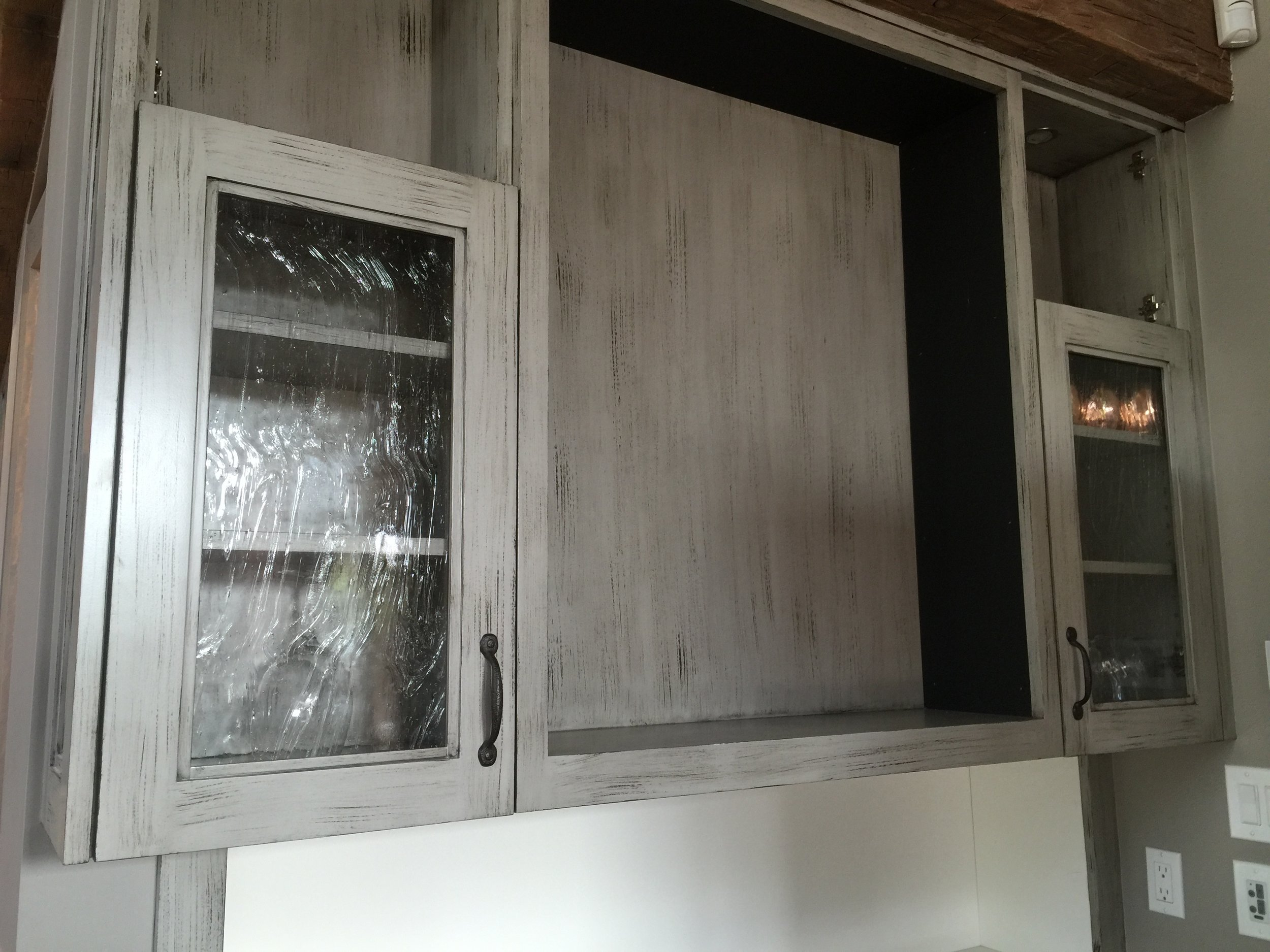 Cabinet doors with Seedy Swirl