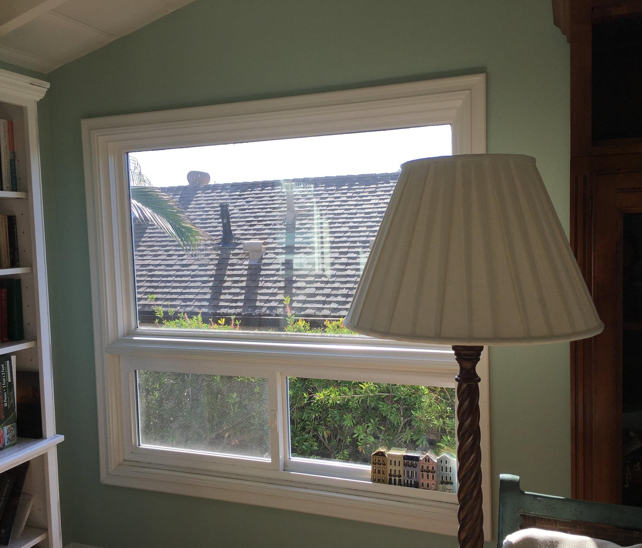 Interior two part window