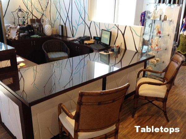 Custom Glass Desk Top