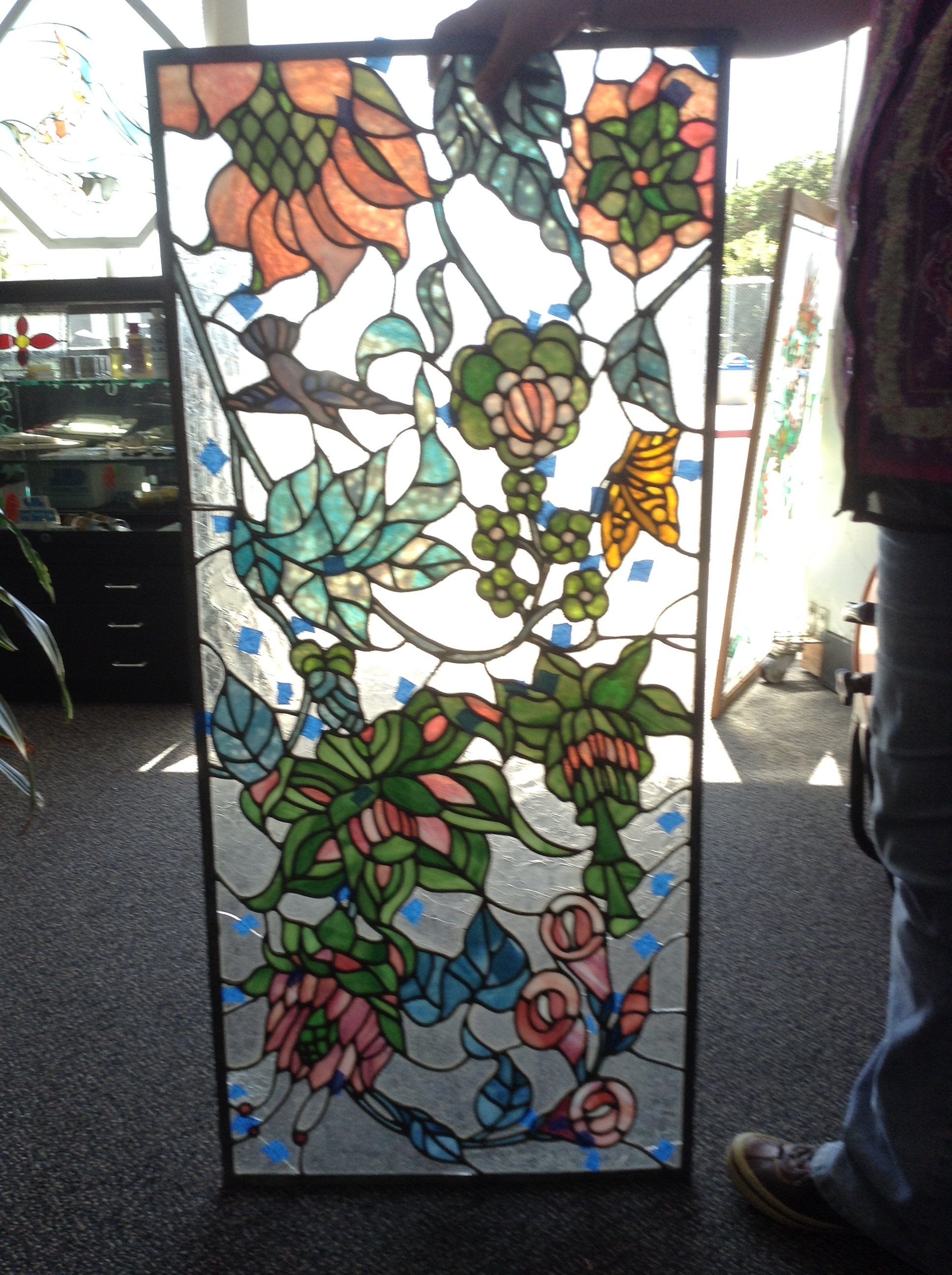 This magnificent piece is comprised of handblown glass but had many damaged parts to it. The Shoppe was able to refurbish it and clean it to the delight of the client.