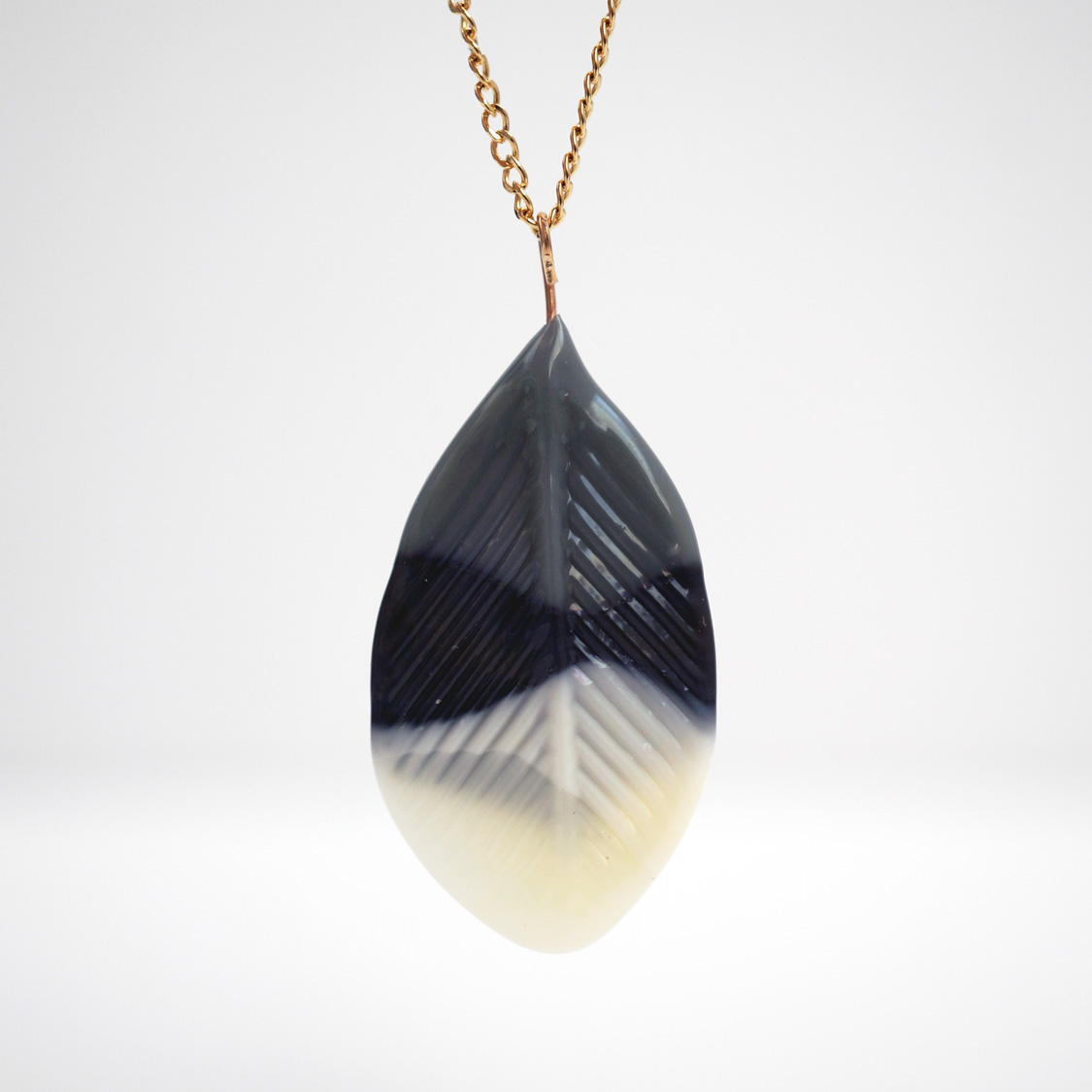 feather necklaces -