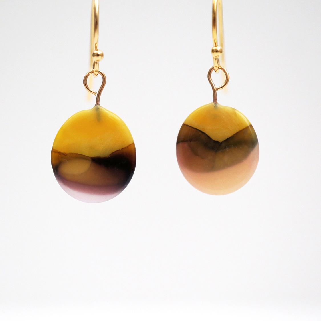 marble earrings -