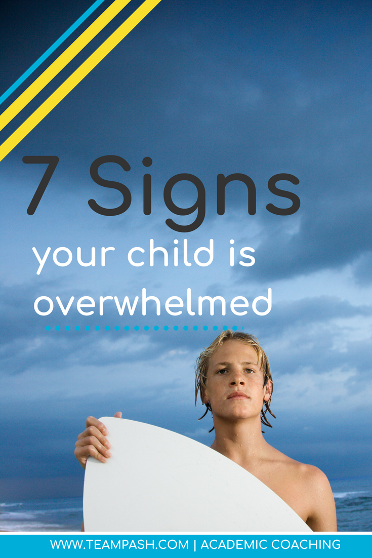 Our children have a lot of activities to make sure they are well rounded, but how much is too much?  Let's chat student overwhelm!  Here are 7 common signs your child might be facing overwhelm.