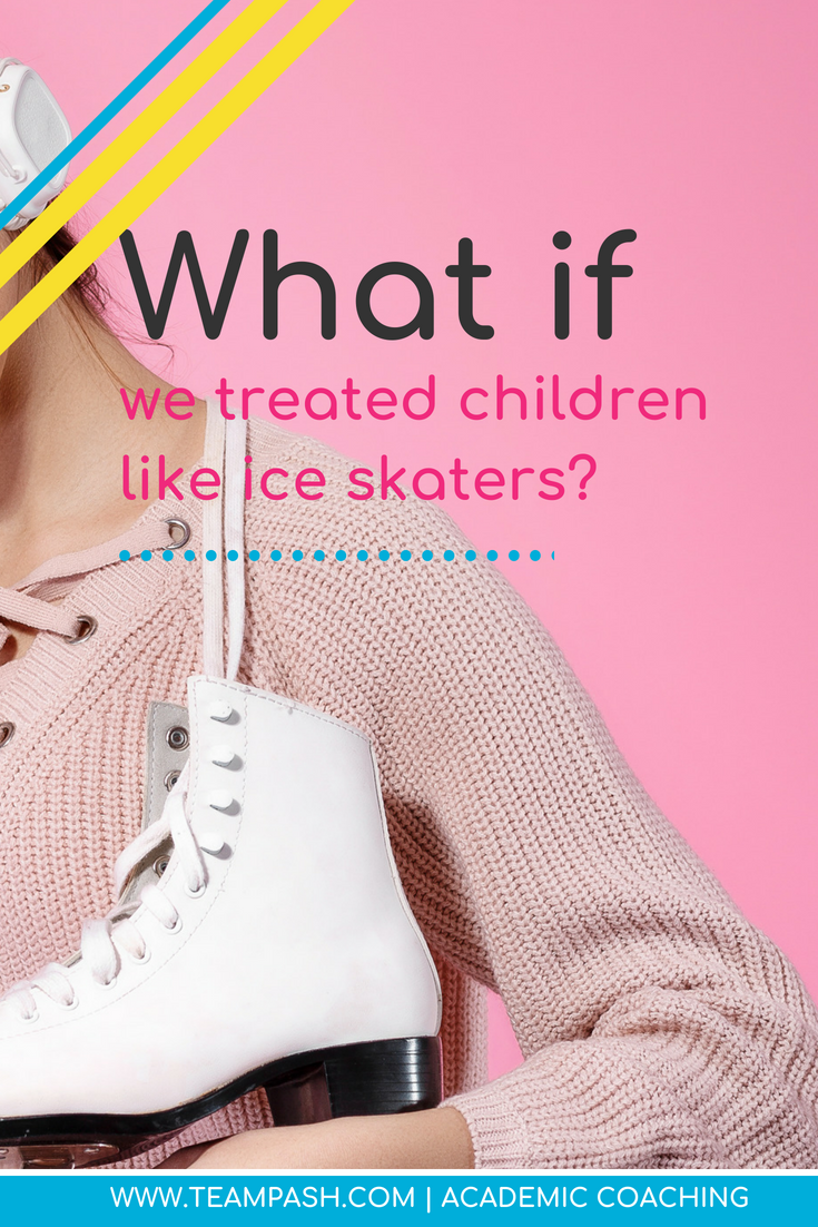Have you ever taken your child ice skating? Are they awesome the first time? I am guessing they aren't…and if they are great ice skaters, you should probably sign them up for the Olympics.  What if we treated students the same way we treat ice skaters? How does this relate to school?  I promise it does. Read on!  #middleschool #highschool #studymotivation  Marni Pasch Academic Coach Team Pasch Academic Coaching www.teampasch.com