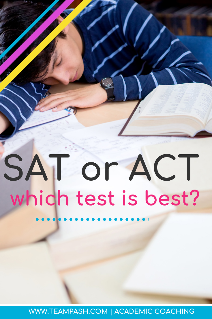 When preparing for college, high school juniors and seniors are expected to take the ACT or SAT test. Heck, in my city, students are supposed to start taking the SAT in kindergarten (ok maybe not, but in 8th grade). How do you know which test is best?    #SAT #ACT #collegeprep  Marni Pasch Team Pasch Academic Coaching www.teampasch.com